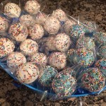 Multicolored Cake Pops