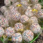 Multi colored cake pops