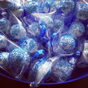 Blue and White Cake Pops