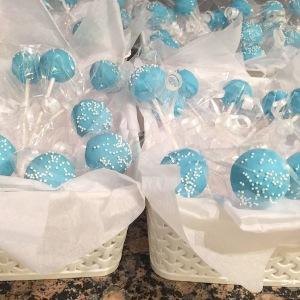 Light Blue Cake Pops