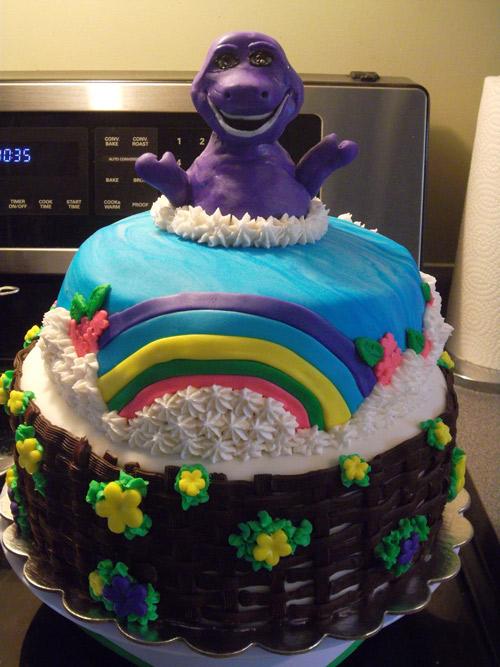 Barney Custom Cake